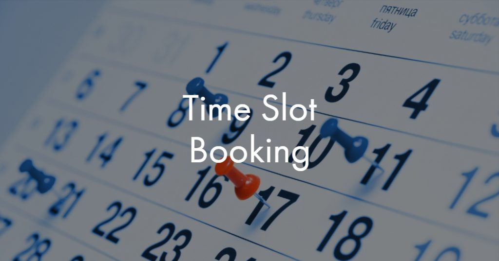 Time Slot Booking